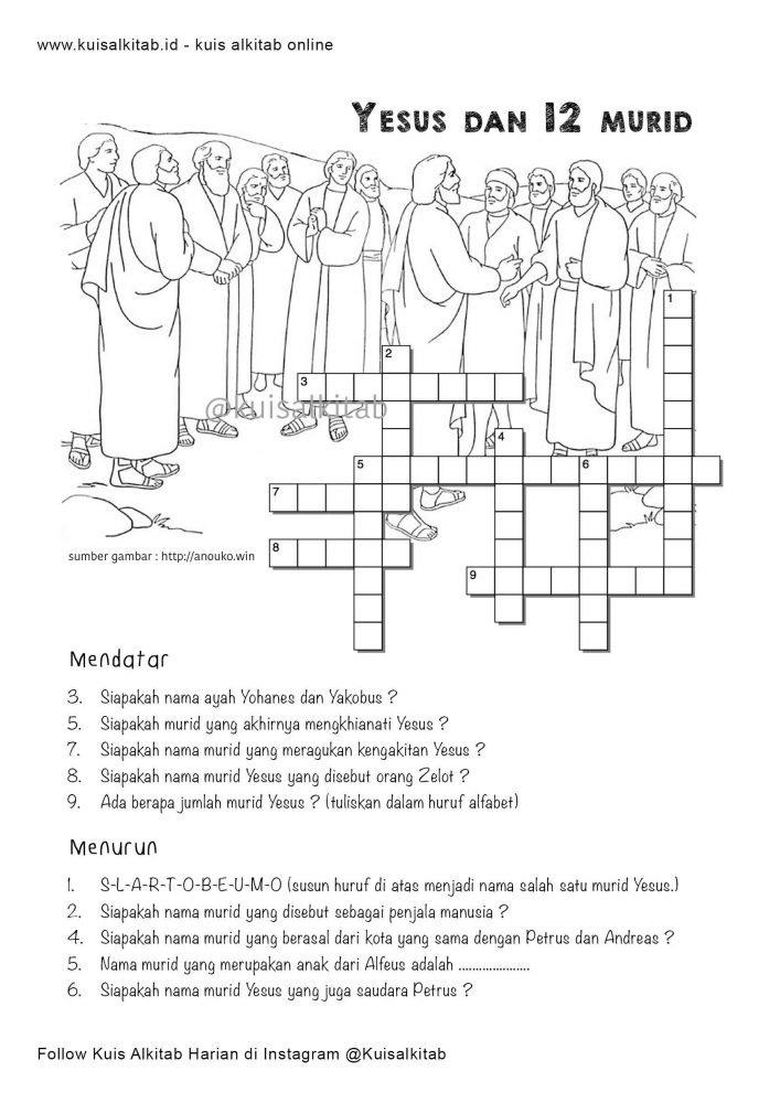 Teka Teki Silang Alkitab Tts Kuis Alkitab
